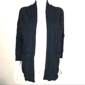 Dreamers M/L Open Front Cardigan Pockets H6064